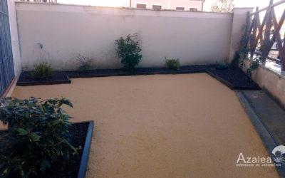 Trabajo de jardinería en Zamarramala, Segovia.